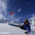 snowkite col du Lautaret